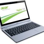 Das elf Zoll große Display reagiert auf Finger-Angaben. Ob man dies bei der knappen Bildschirmdiagonale benötigt, ist jedoch fraglich. (Bild: Acer)