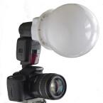 Reflektormaße: Durchmesser circa 14,5 Zentimer; Preis: Adapter circa. 9,99 Euro, Diffusorkugel circa 28,99 Euro; Vertrieb unter anderem: www.enjoyyourcamera.com (Bild: H-J. Kruppa)