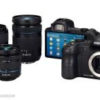 Die Systemkamera kann mit 13 Objektiven der NX-Reihe ausgerüstet werden. (Bild: Samsungtomorrow)