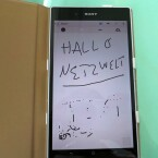Auf dem Bildschirm kann der Nutzer mit einem leitfähigen Kuli oder Bleistift schreiben. (Bild: netzwelt)