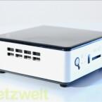 Lüftungsschlitze sollen für Wärmeabfuhr sorgen. Auffallend im Test: Das laute Lüftergeräusch des Mini-PCs. (Bild: netzwelt)