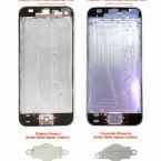 Auch die Befestigungen für den Home-Button unterscheiden sich. Ein Hinweis auf einen Fingerabdruckscanner im iPhone 5S? (Bild: nowhereelse.fr)