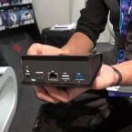 Verbindung zwischen Konsole und Fernseher gelingt via HDMI. Außerdem stehen USB 2.0-, 3.0-Port und microSD-Slot bereit. (Bild: netzwelt)