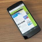 Der Bildschirm des Nexus 5 löst in Full HD auf. (Bild: netzwelt)