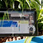 Das Display des Galaxy Note 10.1 misst 10,1 Zoll und löst mit 2.560 x 1.600 Pixeln auf. (Bild: netzwelt)