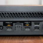 Neben USB, Kinect-Anschluss, HDMI und LAN findet sich auch ein HDMI-Eingang an der Xbox, um Sat- und Kabelreceiver anzuschließen. (Bild: netzwelt)