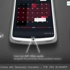 Auf der Frontseite des S5 ist in diesem Konzept ein Iris-Scanner verbaut. (Bild: GalaxyS5Info.com)