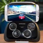 Mit eingelegtem Smartphone erinnert das Samsung GamePad an den Handheld Nvidia Shield. (Bild: netzwelt)