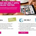 Unter anderem erhalten Telekom-Kunden auch zwei Monate kostenfreien Zugriff auf die Bild- und Welt-App.(Bild: Screenshot Telekom.de)