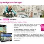 Telekom-Kunden erhalten zwei Jahre lang die Navigationssoftware Navigon kostenlos. (Bild: Screenshot Telekom.de)