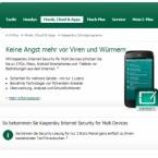 Zwei Euro monatlich zahlen E-Plus-Kunden für Kaspersky Internet Security for Multi Devices und können damit bis zu  drei Geräte schützen. Gegenüber dem regulären Preis sparen Sie rund 36 Euro. (Bild: Screenshot eplus.de)