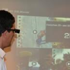 Die Epson Moverio BT-200 kann Inhalte in 2D und 3D darstellen. (Bild: netzwelt)