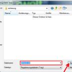 """Wählt einen Speicherort für die Sicherung der Windows-Registry aus, gebt einen Dateinamen ein und klickt anschließend auf """"Speichern"""". Die Sicherung aller Einstellungen dauert einen Moment. Ihr können den Registrierungs-Editor danach schließen."""
