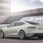 Als Basis der Studie XchangE dient das Elektroauto Tesla S. (Bild: Rinspeed)