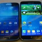 Im Vergleich: Das Galaxy S5 (rechts) ähnelt dem Vorgänger Galaxy S4 (links), ist jedoch etwas eckiger. (Bild: netzwelt)