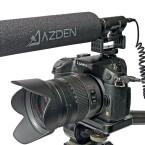 Auf der Kamera wirkt das Azden SGM-DLSR nicht gerade unauffällig.(Bild: H-J. Kruppa)