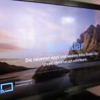 Hintergrundbild, Uhrzeit, angeschlossener Chromecast - das sind die Informationen, die der Stick an den Fernseher ausliefert, wenn nichts gestreamt wird. (Bild: netzwelt)