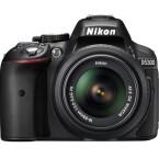 Die Spiegelreflexkamera Nikon D5300 nutzt einen APS-C-Sensor, hat einen Mikrofoneingang und ein herausklappbares Display. Das macht die Kamera auch für Videofilmer interessant. (Bild: Nikon)