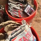 In Eimern wurden die Cartridges des E.T.-Spiels in der Wüste von New Mexico vergraben. (Bild: Twitter)