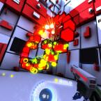 Platz 3 - Time Rifters: Nachdem Team Fortress 2 meinen Magen mit seiner schnellen Action in die Knie gezwungen hat, habe ich Ego-Shooter für nahezu Virtual Reality-untauglich gehalten. Doch Time Rifters der Proton Studios hat mich eines Besseren belehrt. Es ist schnell und frenetisch, trotzdem lenke ich viele der Bewegungen durch Kopfbewegungen, ohne dass dabei ein Übelkeitsgefühl entsteht. (Bild: Proton Studios)