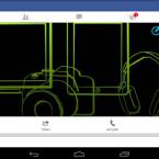 """Öffnet die Facebook-App und ruft die """"erweiterten Einstellungen"""" auf."""