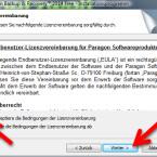"""Bestätigen Sie die Lizenzbedingungen für die Freeware. Setzen Sie dafür den Punkt vor """"Ich akzeptiere die Bedingungen der Lizenzvereinbarung"""" und bestätigen Sie das mit einem Klick auf den Button """"Weiter >"""". (Bild: Screenshot)"""