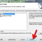 """In diesem Fenster legen Sie den Installationsumfang fest. Änderungen sind nicht notwendig, so dass Sie mit """"Weiter >"""" fortfahren. (Bild: Screenshot)"""