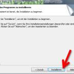 """Starten Sie die Installation mit einem Klick auf """"Installieren"""". (Bild: Screenshot)"""