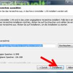 """Optional wählen Sie einen anderen Ordner, in welchem die Software gespeichert werden soll. Danach klicken Sie auf """"Installieren"""". (Bild: Screenshot)"""