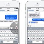 Über die Nachrichten-App können jetzt direkt Audiodateien und Videos an Freunde und Bekannte verschickt werden. (Bild: Apple)