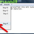Zu Ihrer PDF-Datei gelangen Sie nicht über die Speichernoption, sondern über das Druckenmenü. Dadurch nutzen Sie den PDF-Konverter aus allen Anwendungen, mit denen Sie drucken können. So erstellen Sie beispielsweise auch aus einer Webseite eine PDF-Datei. (Bild: Screenshot)