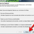 """Setzen Sie den Punkt vor """"Eine neue Sicherung einrichten"""", um das Backup zu konfigurieren. Alternativ stellen Sie über den Assistenten an dieser Stelle Ihre Daten wieder her. (Bild: Screenshot)"""
