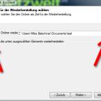 """Geben Sie den Ordner ein, indem Sie die Daten wiederherstellen möchten. Achten Sie darauf, dass Duplicati auch die gesamte Ordnerstruktur gesichert hat. Sie müssen immer das Stammverzeichnis eingeben, von dem die Datensicherung ausgeht. Wenn Sie nur einzelne Dateien wiederherstellen möchten, aktivieren Sie das Häkchen vor """"Nur die unten ausgewählten Elemente wiederherstellen"""". (Bild: Screenshot)"""