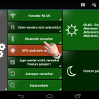 """Eine ständig aktivierte Bluetooth-Verbindung belastet Ihren Akku ebenfalls. Häufig benötigen Sie die Bluetooth-Verbindung jedoch nur zeitweise. Beispielsweise müssen Sie nur bei einem ankommenden oder abgehenden Anruf eine Verbindung zum Headset herstellen. Deshalb macht es Sinn, die Bluetooth-Verbindung von GreenPower  verwalten zu lassen. Tippen Sie auf """"Bluetooth verwalten"""", um die Einstellungen vorzunehmen. (Bild: Screenshot)"""