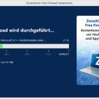 Die drei Megabyte große Setup-Datei reicht nicht aus, um alle Funktionen der Firewall zu installieren. Aus diesem Grund werden aus dem Internet weitere Daten (circa 41 Megabyte) heruntergeladen. Abhängig von der Schnelligkeit Ihres Internetanschlusses kann dieser Vorgang einige Zeit in Anspruch nehmen. (Bild: Screenshot)