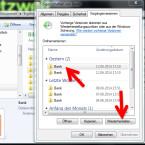 """Mit einem Doppelklick auf die Ordnerversion öffnen Sie das Verzeichnis und zeigen die darin befindlichen Dateien an. Jetzt können Sie die gesuchte Datei selektiv kopieren und am ursprünglichen Speicherort einfügen. Alternativ klicken Sie auf die Ordnerversion und stellen den Ordner mit einem Klick auf """"Wiederherstellen"""" auf das angegebene Änderungsdatum zurück. (Bild: Screenshot)"""