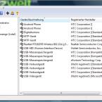 """Über das Startmenü von Windows öffnen Sie die Management Console von Microsoft. Hier ist auch der """"USB Wächter"""" integriert. Im Rahmen der Erstinstallation werden alle bisher angeschlossenen Geräte als """"Erlaubte Geräte"""" zugelassen. Alle aufgeführten USB-Geräte können angeschlossen werden und mit Ihrem Computer Daten austauschen. (Bild: Screenshot)"""