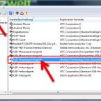 """Um einen bereits zugelassenen USB-Stick zu sperren, klicken Sie den dazugehörigen Eintrag in der Liste an und löschen diesen über das rote """"X"""" unterhalb der Menüleiste. (Bild: Screenshot)"""