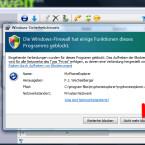 """Erlauben Sie MyPhoneExplorer als Ausnahme in Ihrer Firewall. Klicken Sie dazu auf """"Nicht mehr blockieren"""". (Bild: Screenshot)"""