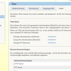 """Zunächst müssen Sie unter """"Internet/Filter/Listen"""" eine neue Netzwerkanwendung definieren.  (Bild: Screenshot Fritz!Box)"""