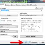 """Ein weiterer Klick auf """"OK"""" startet die Komprimierung. Ein Fortschrittsbalken zeigt Ihnen bei großen Datenmengen an, wie lange die Archivierung noch dauert. (Bild: Screenshot)"""