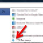 Das Icon für die Browsererweiterung finden Sie hinter der Adresszeile des Chrome Webbrowsers. Wenn Sie sich auf der Seite mit dem Video befinden, verwandelt sich das Icon des FVD Downloaders in einen blauen Pfeil. Ein Klick auf den Pfeil macht den Download-Button für das Video sichtbar. Das funktioniert sowohl mit öffentlich geposteten Videos als auch mit privat geteilten Clips Ihrer Freunde. (Bild: Screenshot / Google Chrome / FVD Downloader)