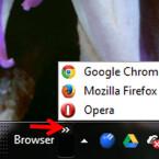 Über die neu angelegte Symbolleiste rufen Sie die in den Ordner verschobenen Dateien schnell auf. Dafür klicken Sie nur auf die kleinen Pfeile und anschließend auf die Verknüpfung, Datei oder das Programm, welche(s) Sie öffnen möchten. (Bild: Screenshot)