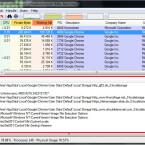 Die Hauptansicht des Process Explorers ist in zwei Fenster unterteilt. In Form eines Verzeichnisbaums finden Sie im oberen Teil eine Liste aller aktiven Prozesse in Echtzeit. Mit einem Klick wählen Sie einen Prozess aus. Das untere Fenster zeigt im Handle-Modus alle Handle an, die der Prozess geöffnet hat. (Bild: Screenshot/Microsoft Process Explorer)
