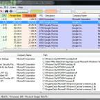 Unterhalb der Menüzeile schalten Sie über ein Icon zwischen dem Handle-Modus und dem DLL-Modus um. Im DLL-Modus zeigt das untere Fenster alle DLLs und Dateien an, die der Prozess geladen hat und denen Speicher zugewiesen wurde. (Bild: Screenshot/Microsoft Process Explorer)