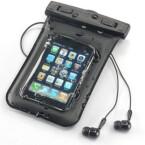 Wenn Sie sich am Strand oder in der Nähe eines Pools aufhalten, denken Sie unbedingt an einen Wasser- und Sandschutz für Ihr Gerät. Denn das iPhone, iPad und der iPod touch sind weder vor Staub geschützt noch können sie schwimmen, ohne einen Schaden davonzutragen. Auch für Outdoor-Aktivitäten ist dieser Schutz interessant. (Bild: Screenshot/iPhone-Hülle Sanwa 200-PDA016)