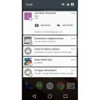 Benachrichtigungen erscheinen nun als Karten im Stil von Google Now. (Bild: Screenshot Nexus 5)