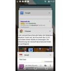 Auch die kürzlich geöffneten Apps erscheinen nun im Kartenstil. (Bild: Screenshot Nexus 5)