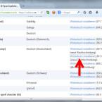 """Es öffnet sich die Webseite von Mozilla mit Empfehlungen für """"Wörterbücher & Sprachpakete"""". Scrollen Sie nach unten zu der gewünschten Sprache. Klicken Sie in der dritten Spalte auf """"Wörterbuch installieren"""". In einigen Sprachen stehen mehrere Wörterbücher für die Rechtschreibkorrektur zur Verfügung. (Bild: Screenshot/Mozilla Firefox)"""