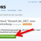 """Es öffnet sich die Add-on-Seite des angeklickten Wörterbuchs. Mit einem Klick auf den grünen Button """"+ Zu Firefox hinzufügen"""" beginnen Sie mit der Installation. (Bild: Screenshot/Mozilla Firefox)"""